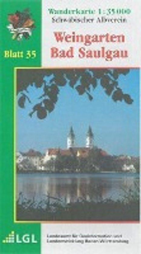 Karte des Schwäbischen Albvereins 35 Weingarten - Bad Saulgau 1:35.000