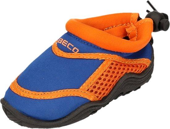 Beco Neopreen Waterschoenen - surfschoenen - Kinderen - Neopreen - Blauw/oranje - 22