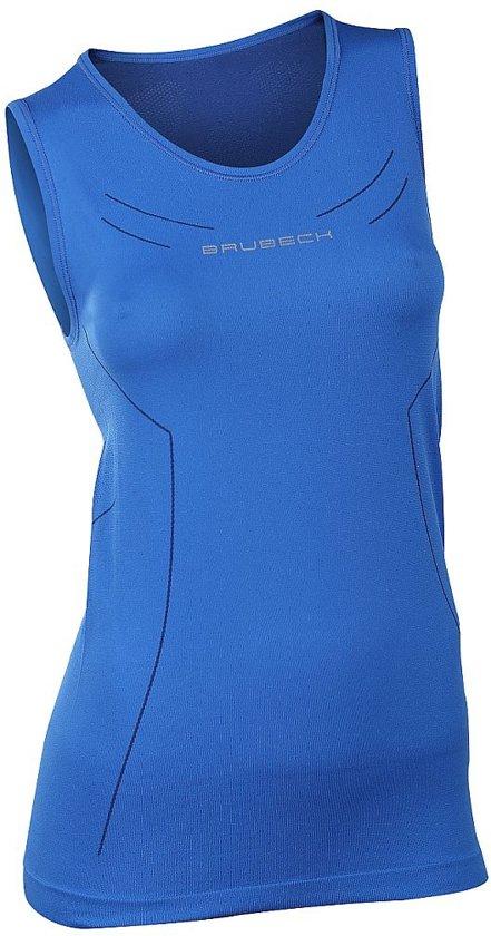 Brubeck Athletic Seamless Tank - Sportshirt - Vrouwen - Maat M - Donker Blauw