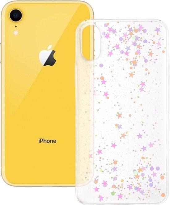 Epoxy Sky Pattern Soft Hoesje voor iPhone XR 6.1 inch (Transparante pailletten)