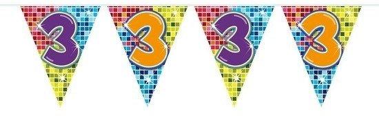 Bol Com 2x Mini Vlaggenlijn Slinger Verjaardag 3 Jaar 300 Cm