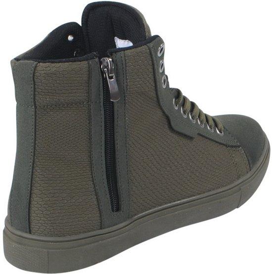 Sneaker Hoge Details Heren Suede Tamboga Army REwHxHd