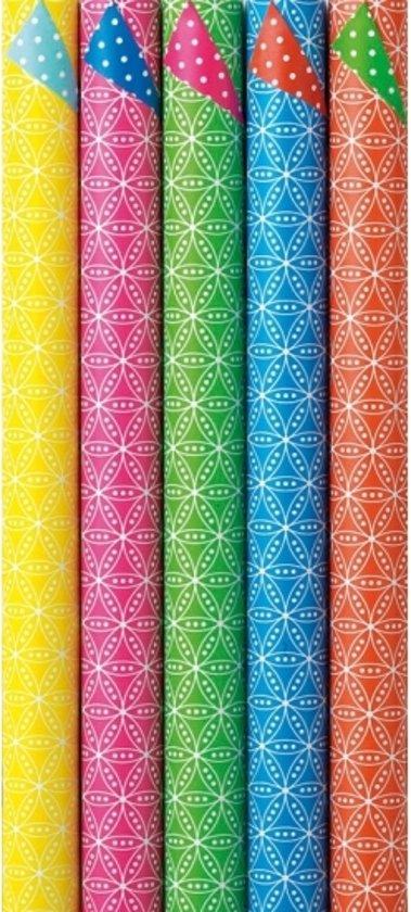 Dubbelzijdig inpakpapier rood / groen - kadopapier / cadeaupapier