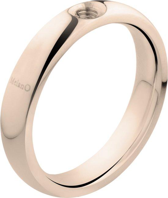 Melano Twisted Tracy ring - dames - roségoudkleurig - 4mm - maat 59