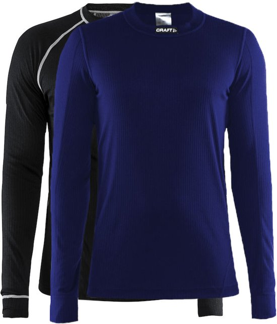 Craft Active 2-Pack Tops Thermoshirt Heren - Black/Maritime