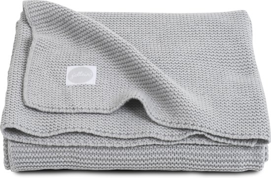 Jollein Basic knit Deken 75x100cm light grey