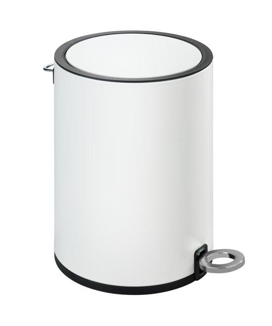 Populair bol.com | Pedaalemmer wit mat 3 liter / prullenbak / afvalemmer MS62
