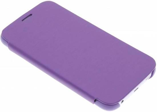Boîtier Métallique De Type Livre Mince Bleu Foncé Pour Samsung Galaxy S6 2JfQ5PTrvy