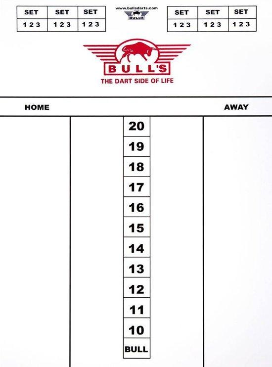 Darttel Flex Scorebord 35x25 cm.-Tactics