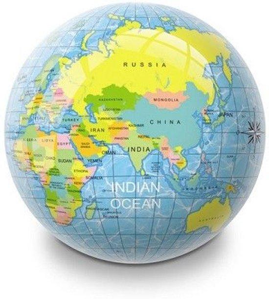 Bal wereldbol 23cm zak a 10 st
