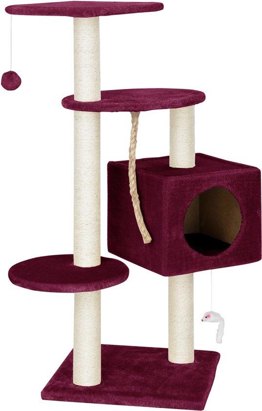 Krabpaal - krabmeubels - krabspeelgoed - 40x40x113cm-Rood