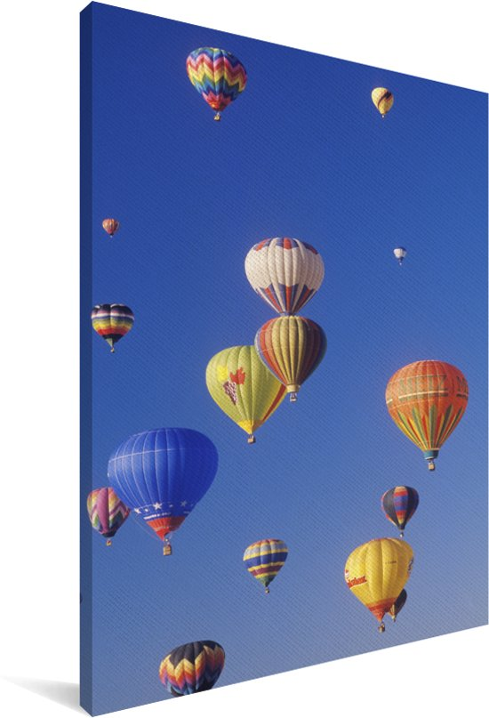 Het Albuquerque International Balloon Fiesta in de Amerikaanse staat New Mexico Canvas 90x140 cm - Foto print op Canvas schilderij (Wanddecoratie woonkamer / slaapkamer)