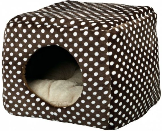 Trixie kattenmand iglo mina bruin / beige stip 40x32x40 cm