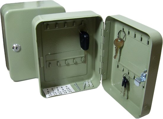 Hangkast Met Slot.Bol Com Stalen Sleutel Kast Sleutelkluisje Voor 20 Sleutels