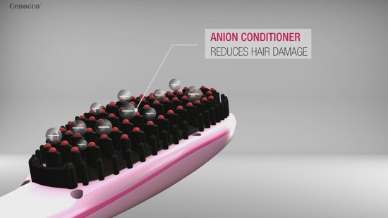 Cenocco CC-9011; fast Hair Straightener met keramische plaat Wit