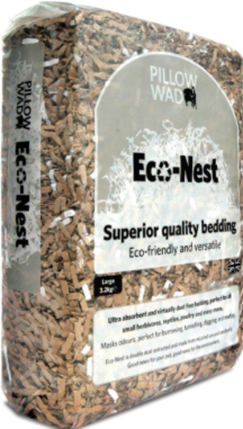 ca 6,4 Kilo Eco-Nest, Stofvrije Bodembedekking voor alle knaagdieren, vogels etc (2x3,2 Kilo)