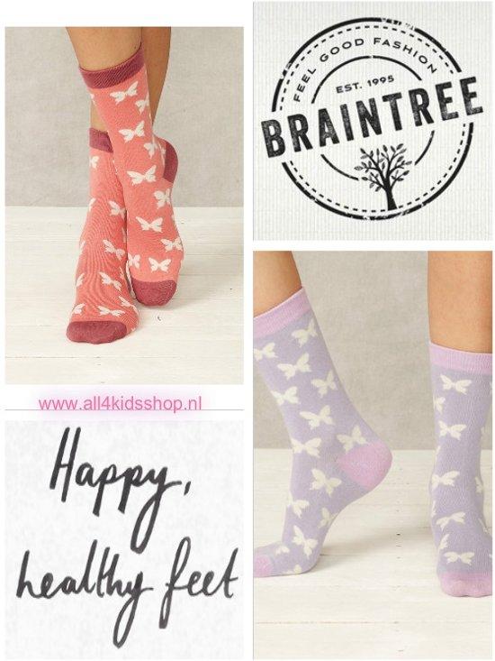 4a66a854ce5bef Bamboe dames sokken set van 2 paar - butterfly - damessokken maat 37 - 40