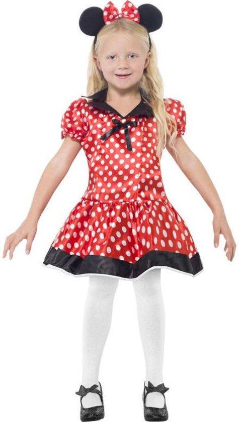 Minnie Mouse jurkje | Verkleedkleding kind maat 116-128