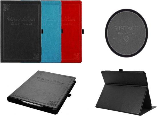 Vintage Carpe Diem Hoes Cover Case voor Samsung Galaxy Tab 10.1v P7100 P7110, zeer stijlvol designer hoesje, rood , merk i12Cover in Zwalm