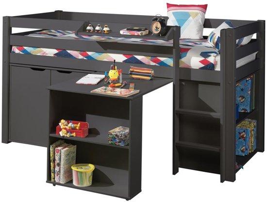 halfhoogslaper charlotte met bureau boekenkast en commode taupe