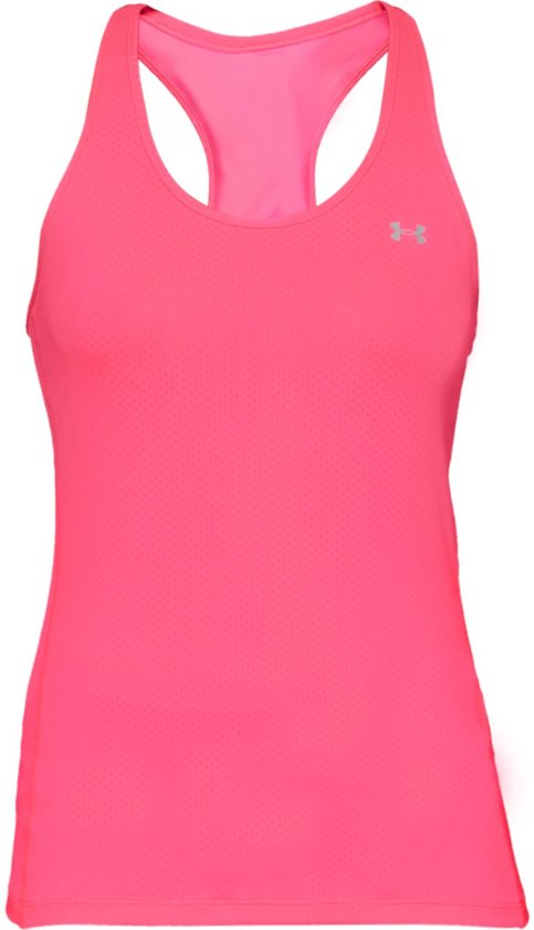 Under Armour HG Armour Racer Tank Sporttop Dames - Mojo Pink - Maat L