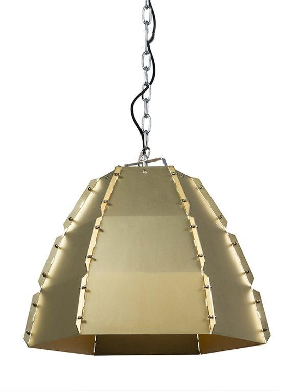 QAZQA Niro - Hanglamp - 1 lichts - Ø 520 mm - Goud/messing