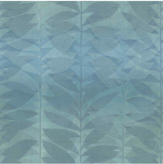 Fabulous bol.com   Botanical bladeren petrol behang (vliesbehang, blauw) QT04