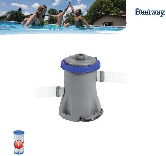 Zwembadfilterpomp - Bestway Flowclear Zwembad Filter Pomp 1.2 L per uur - Pomp - Zwembad