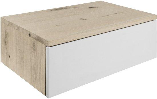 Eiken Badkamermeubel Harstad   100x50x30   2 lades   Pure
