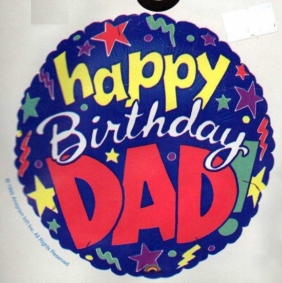 Bol Com Folie Ballon Happy Birthday Dad Verjaardag Vader