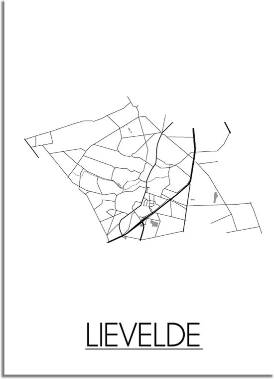 DesignClaud Lievelde Plattegrond poster A4 poster zonder fotolijst