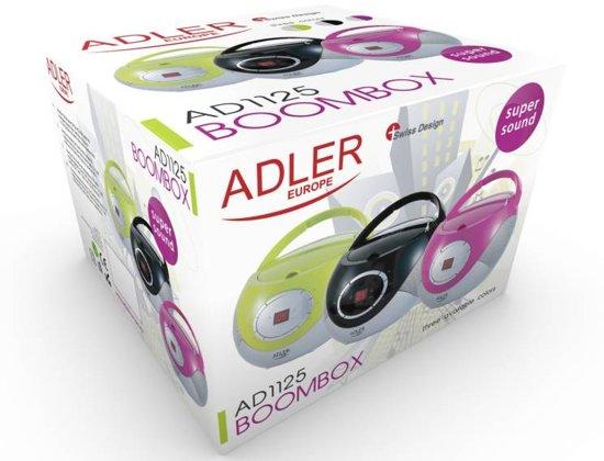 Adler AD 1125b - Radio cd-speler - zwart