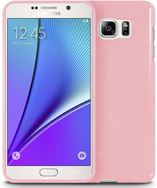 Xssive TPU Back Cover en tempered glass voor Samsung Galaxy S7 G930 - Back cover - TPU - Gelly - Licht Roze