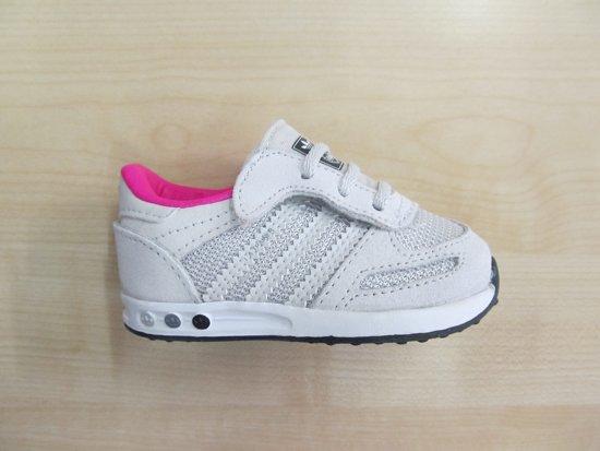 new styles b591e 4dc13 Adidas LA Trainer cf infant grijs roze cg3123, maat 19