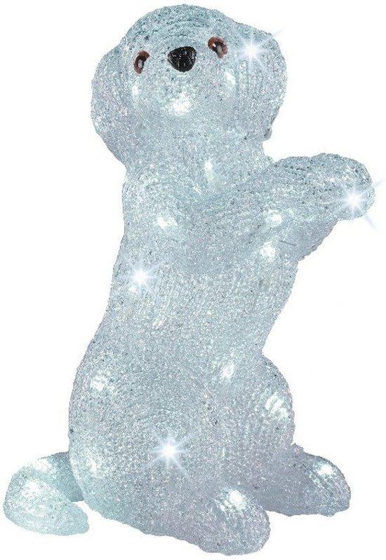 bol.com | LED verlichting hond zittend 37 cm - kunstbloemen