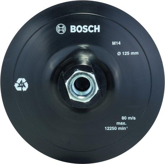 Bosch - Rubber schuurschijf voor haakse slijpmachines, klithechtsysteem, 125 mm 125 mm