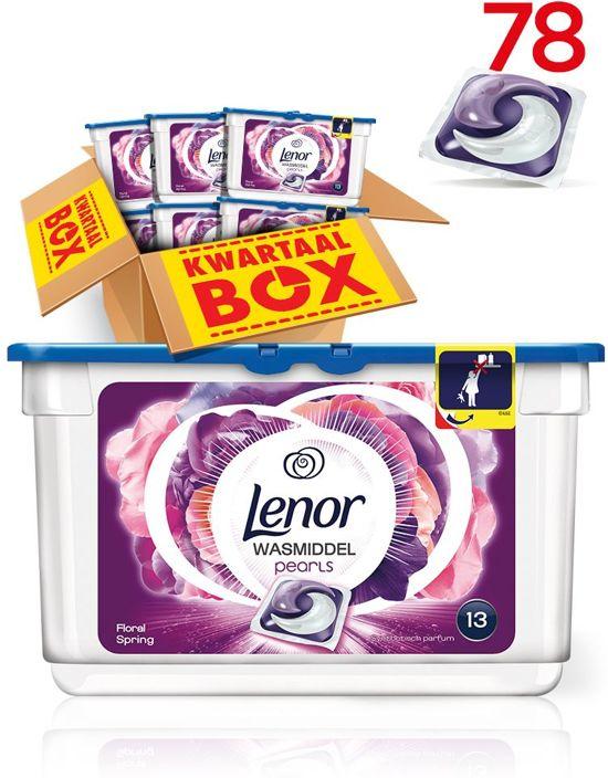 Lenor PODS Pearls Floral Spring - Kwartaalbox 78 Wasbeurten - Wasmiddel
