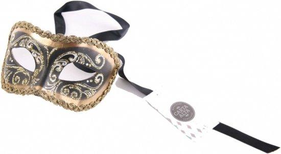 Venetiaans barok oogmasker zwart goud
