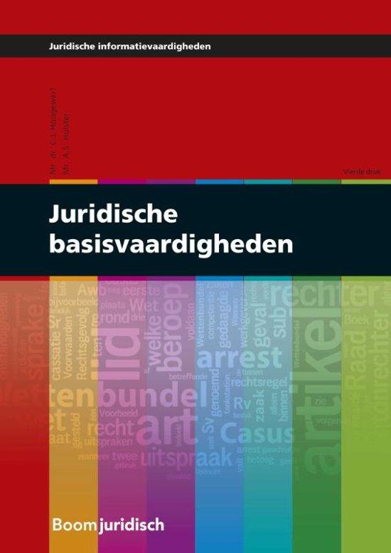 Juridische informatievaardigheden - Juridische basisvaardigheden - C.L. Hoogewerf