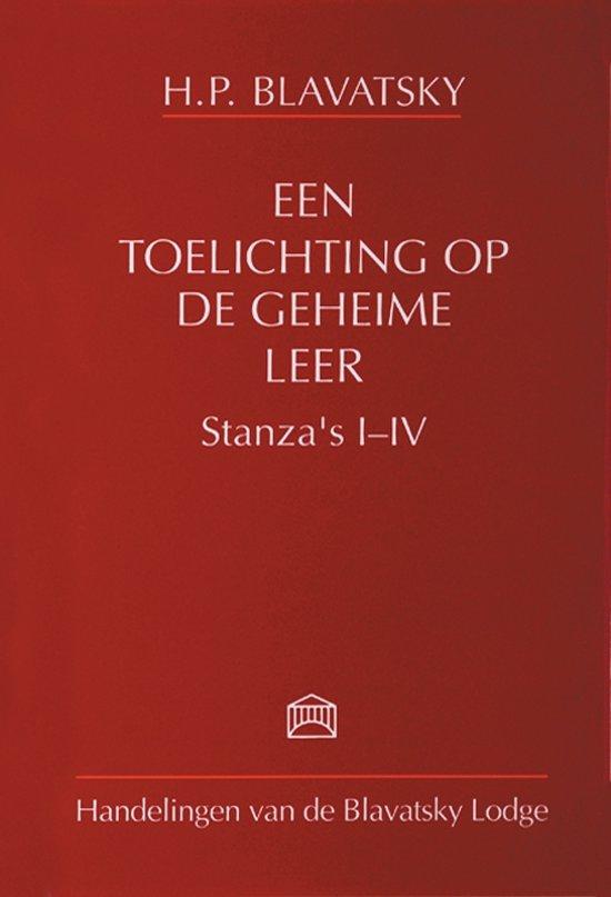 Een toelichting op de geheime leer Stanza's I-IV