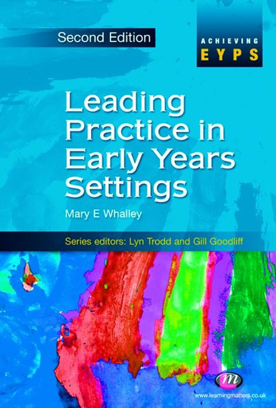 eymp4 professional practice in early years settings task 2 Principles for early years education these principles are drawn from, and are evident in, good and effective practice in early years settings.