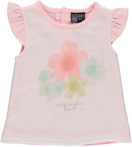 Roze Babykleding.Bol Com Losan Babykleding Shirt Roze Met Bloemen S69 Maat 68
