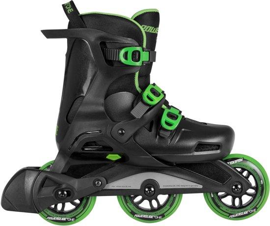 Powerslide Wave Inline Skate Junior Inlineskates - Maat 39-41 - Unisex - zwart/groen