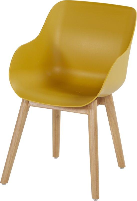 Hartman Sophie Organic Teak Tuinstoel - Set Van 2 - Curry Yellow NU Met Gratis Zitkussens Twv. € 44,00