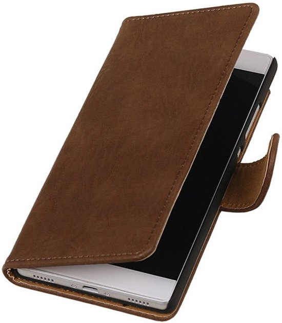 Bruin Hout Apple iPhone 6 Hoesjes Book/Wallet Case/Cover