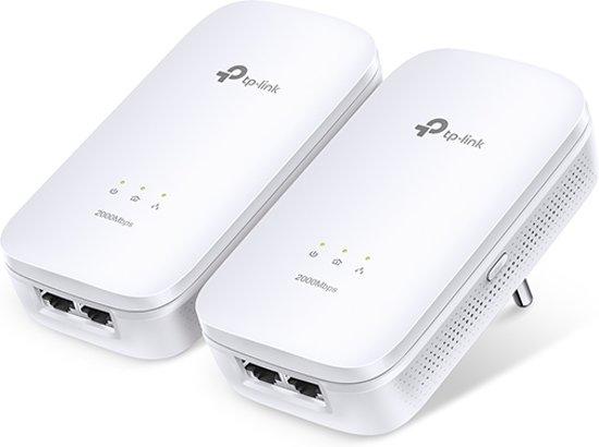 TP-LINK AV2000 2000Mbit/s Ethernet LAN Wit 2stuk(s) PowerLine-netwerkadapter
