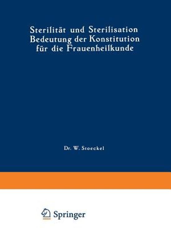 Sterilit t Und Sterilisation