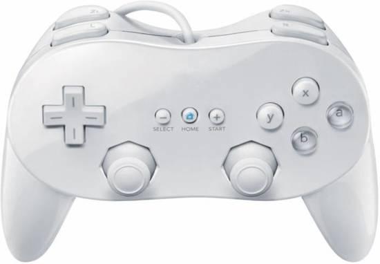 Nintendo Wii Pro Controller Joystick Classic - Kleur: Wit kopen