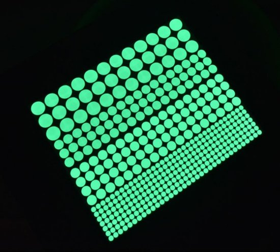 Glow In The Dark Muurstickers Met Stippen - 407 Delig