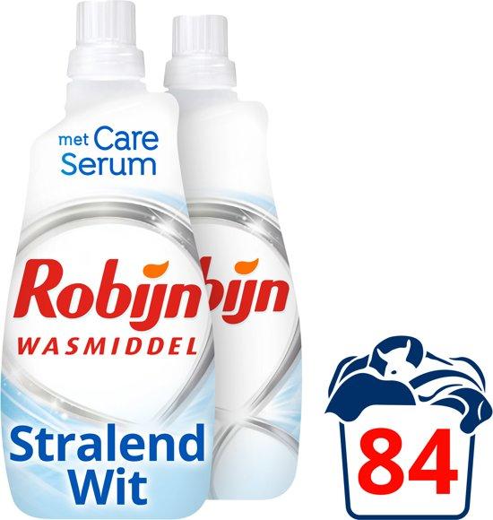 Robijn Stralend Wit Klein & Krachtig Vloeibaar wasmiddel - 2x42 wasbeurten - 2,94 l